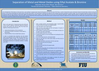 Separation of Metal and Metal Oxides using Ethyl Acetate & Bromine