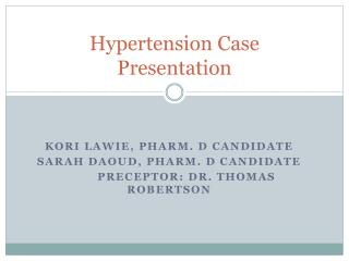Hypertension Case Presentation