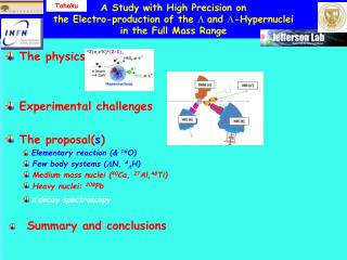 The physics  Experimental challenges The  proposal( s ) Elementary reaction (&  16 O)