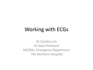 Working with ECGs