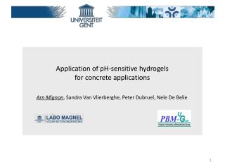 Application of pH- sensitive hydrogels for  concrete  applications