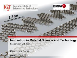 Innovation in Material Science and Technology  Cooperation with KIST Gian-Luca Bona,  www-empa.ch