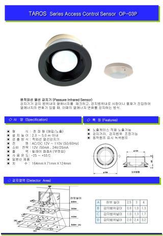 TAROS  Series Access Control Sensor  OP-03P