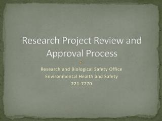 Research Project Review and Approval Process
