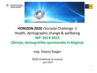 Delovni program (WP) 2014-2015