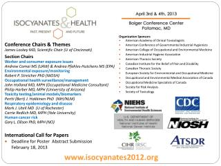 International Call for Papers Deadline for  Poster  Abstract Submission February 18, 2013