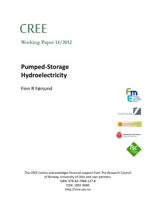 Pumped-Storage  Hydroelectricity Finn R  F�rsund