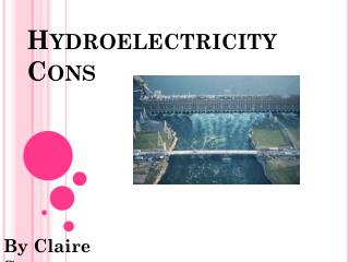 Hydroelectricity Cons