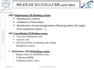 PH-DT-DI 2013/2014 CMS activities