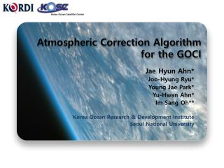 Atmospheric Correction Algorithm for the GOCI