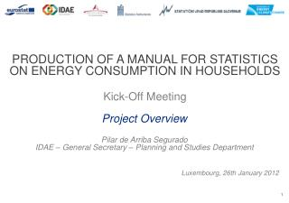 PRODUCTION OF A MANUAL FOR STATISTICS ON ENERGY CONSUMPTION IN HOUSEHOLDS