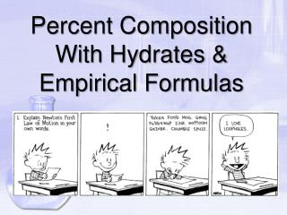 Percent Composition With Hydrates & Empirical Formulas