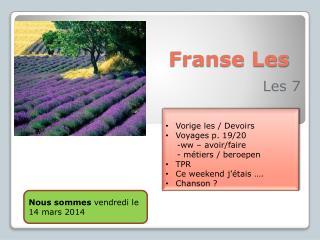 Franse Les