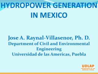 HYDROPOWER GENERATION IN MEXICO