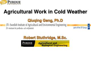 Agricultural Work in Cold Weather