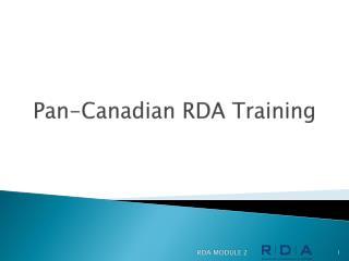 Pan-Canadian RDA Training