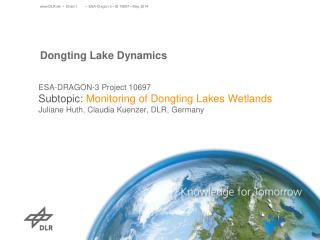 Dongting Lake Dynamics