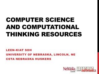 Computer Science and Computational  Thinking Resources