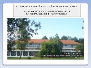 ORGANIZACIJE CIVILNOG DRUŠTVA U REPUBLICI HRVATSKOJ
