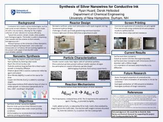 Synthesis of Silver Nanowires for Conductive Ink Ryan Huard, Derek  Hellested
