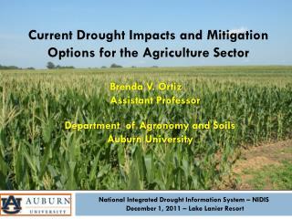 National Integrated Drought Information System – NIDIS  December 1, 2011 – Lake Lanier Resort