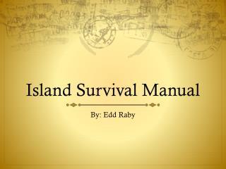 Island Survival Manual