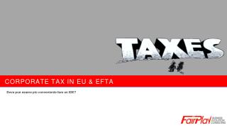 Corporate tax in  eu  &  efta