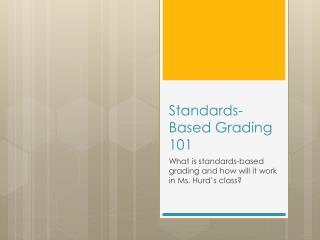 Standards-Based Grading 101