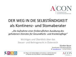 Wichtiges und Überblick  über das  Steuer- und Beitragsrecht in Österreich