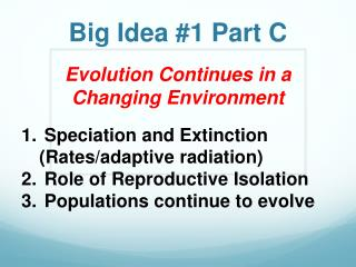 Big Idea #1 Part C