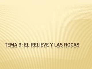 TEMA 9: EL RELIEVE Y LAS ROCAS