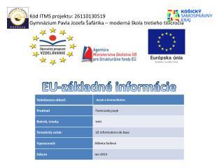 EU -základné informácie