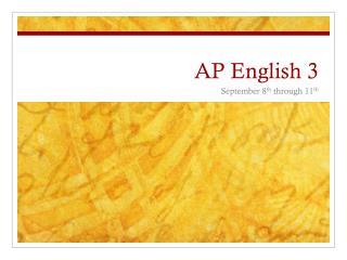 AP English 3