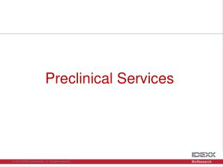 Preclinical Services