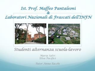 Ist. Prof.  Maffeo Pantaleoni & Laboratori Nazionali di Frascati dell'INFN