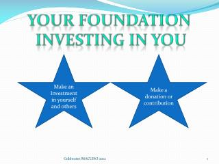 Your Foundation  Investing in You