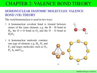 CHAPTER 2: VALENCE BOND THEORY