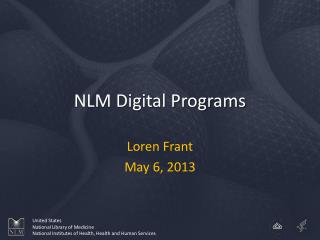 NLM Digital Programs