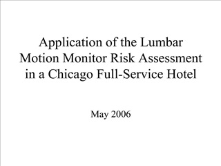 Application of the Lumbar Motion Monitor Risk Assessment in a Chicago Full-Service Hotel