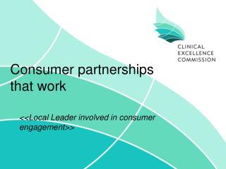 Consumer partnerships that work