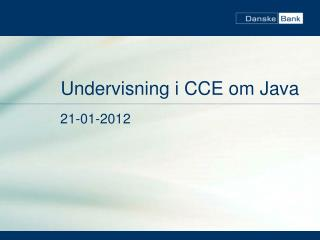 Undervisning i CCE om Java