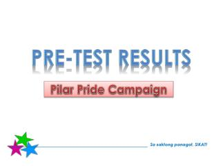 Pre-Test Results