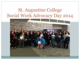 St. Augustine College Social Work Advocacy Day 2014