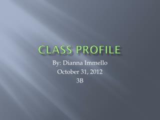 Class Profile