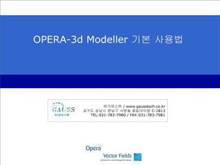 OPERA-3d Modeller