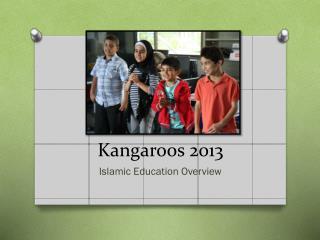 Kangaroos  2013