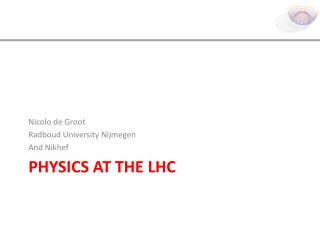 Physics at the LHC