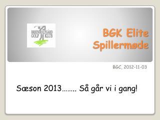 BGK Elite Spillermøde