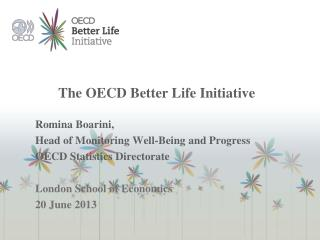 The OECD Better Life Initiative