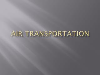 Air Transportation